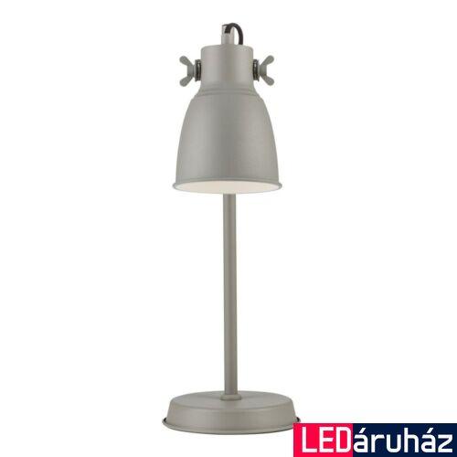 NORDLUX Adrian asztali lámpa, szürke, E27, max 25W, 12.5cm átmérő, 48815011