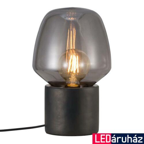 NORDLUX Christina asztali lámpa, fekete, E27, max 25W, 20cm átmérő, 48905003