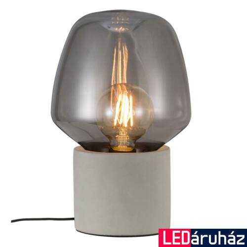 NORDLUX Christina asztali lámpa, szürke, E27, max 25W, 20cm átmérő, 48905011