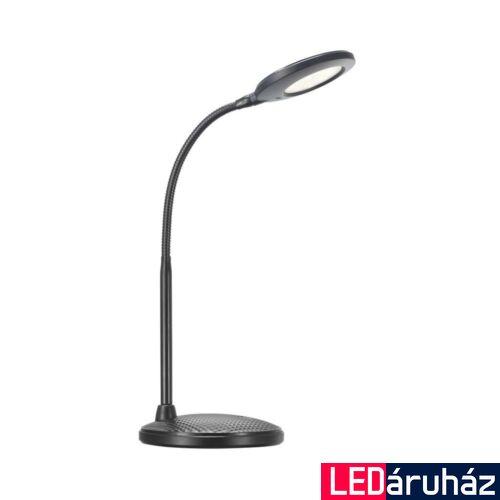 NORDLUX Dove asztali lámpa, fekete, 3000K melegfehér, beépített LED, 5.4W , 340 lm, 10.5cm átmérő, 84593103