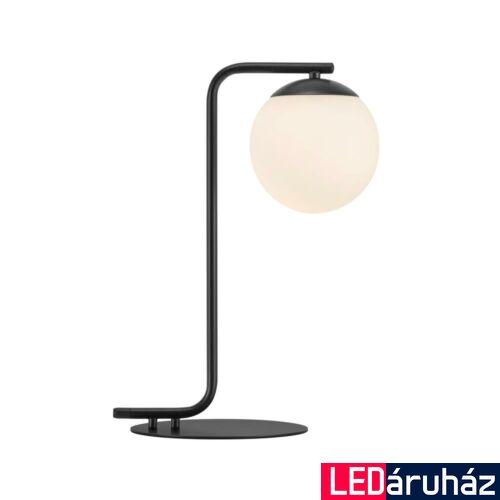 NORDLUX Grant asztali lámpa, fekete, E14, max 40W, 14.5cm átmérő, 46635003