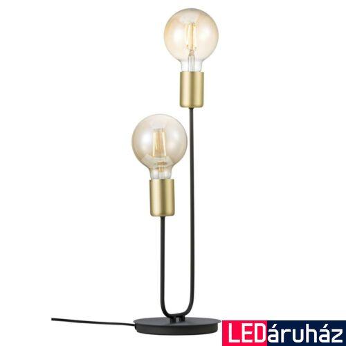 NORDLUX Josefine asztali lámpa, fekete, E27, max 2X28W, 4.2cm átmérő, 48955003