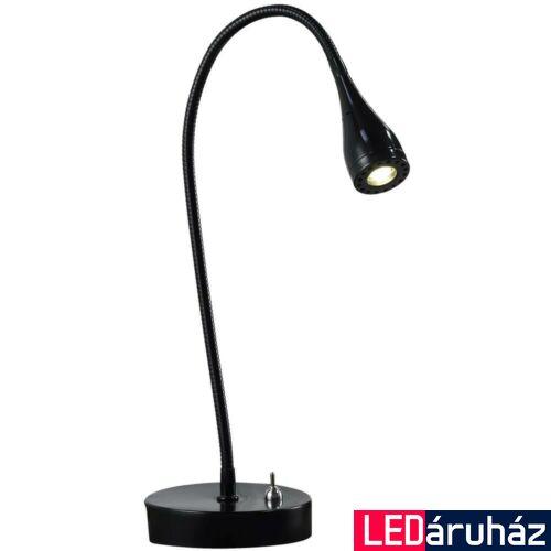 NORDLUX Mento asztali lámpa, fekete, 3000K melegfehér, beépített LED, 3W , 130 lm, 3.5cm átmérő, 75525003