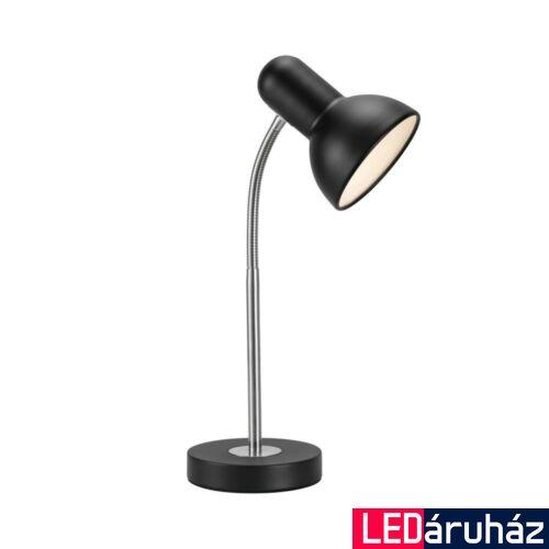 NORDLUX Texas asztali lámpa, fekete, E27, max 60W, 12.5cm átmérő, 47615003