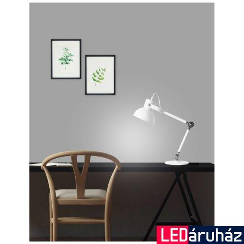 Nova Luce Dunik asztali lámpa, 34 cm, fehér, Fényforrás nélkül, NLC-6713001