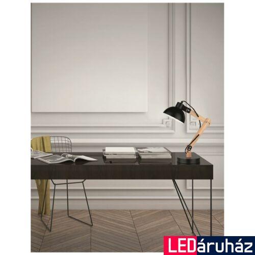 Nova Luce Lila asztali lámpa, 16 cm, fekete, Fényforrás nélkül, NLC-671602