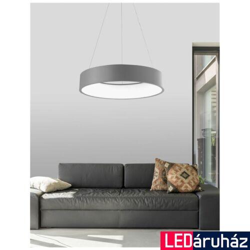 Nova Luce Rando LED függeszték, 60 cm, szürke, 3000K melegfehér, NLC-6167206