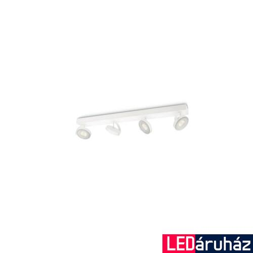 Philips Clockwork fehér négyes LED szpotlámpa, 4x4, 5W, 5317431P0
