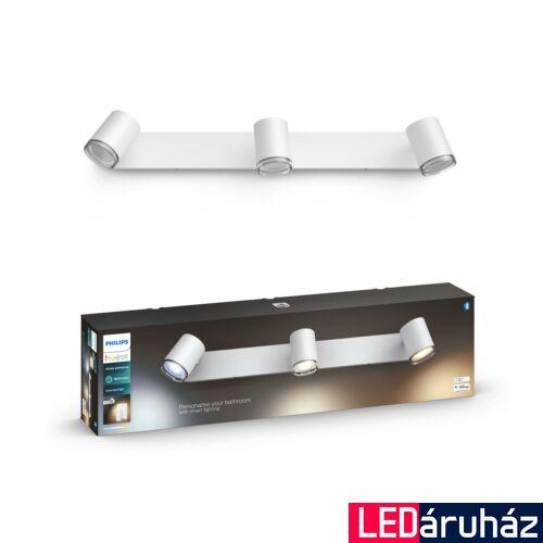 Philips Hue Adore LED fali tükör megvilágító lámpa, fürdőszobába, fehér, 2xGU10, 5,5W, 24V, IP44, White Ambiance, 2200-6500K+DimSwitch, Bluetooth+Zigbee, 3418031P6