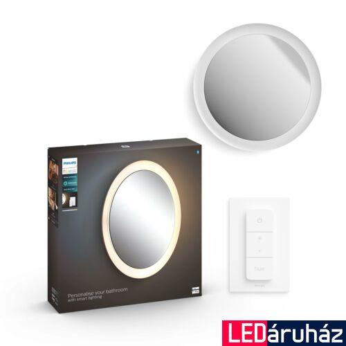 Philips Hue Adore LED tükör, beépített megvilágítással, fehér, 27W, 2400lm, 24V, IP44, White Ambiance, 2200K-6500K+DimSwitch, Bluetooth+Zigbee, 3418631P6