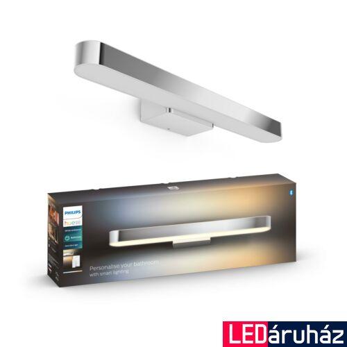 Philips Hue Adore LED tükör megvilágító lámpa, fürdőszobába, króm, 33,5W, 24V, IP44, White Ambiance, 2200-6500K+DimSwitch, Bluetooth+Zigbee, 3417711P6