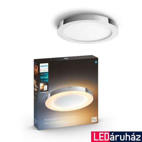 Philips Hue Adore mennyezeti fürdőszobai LED lámpa, króm, 27W, 24V, IP44, White Ambiance, 2200-6500K+DimSwitch, Bluetooth+Zigbee, 3418411P6