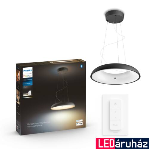 Philips Hue Amaze függesztett LED lámpa, White Ambiance, fekete, 33,5W, 3000 lm, 2200K-6500K + DimSwitch, Bluetooth+Zigbee, 4023330P6