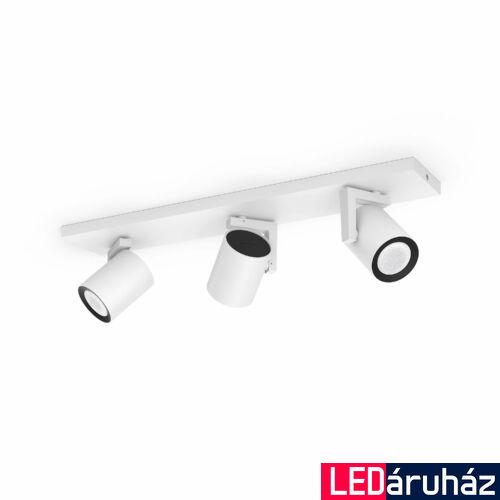 Philips Hue Argenta fehér hármas mennyezeti LED spot, RGBW, GU10 fényforrással, 5062331P7, Bluetooth+Zigbee