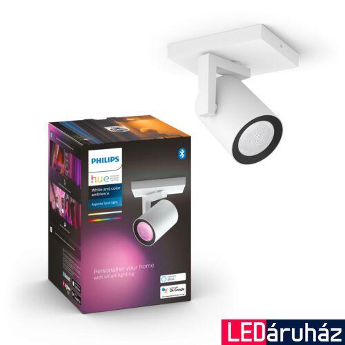 Philips Hue Argenta fehér mennyezeti LED spot, RGBW, GU10 fényforrással, 5062131P7, Bluetooth+Zigbee