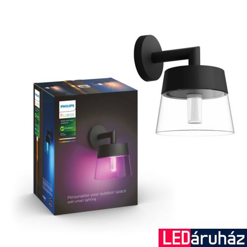 Philips Hue Attract kültéri fali lámpa, White and Color Ambiance, RGBW, 8W, 600lm, IP44, 8718696174357