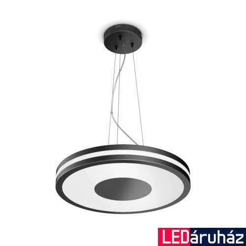 Philips Hue Being függesztett LED lámpa, White Ambiance, fekete, 39W, 3000 lm, 2200K-6500K + DimSwitch, Bluetooth+Zigbee, 4098430P7