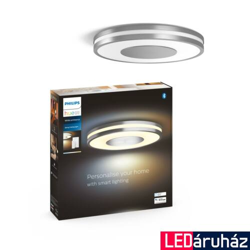 Philips Hue Being mennyezeti LED lámpa, White Ambiance, alumínium, 27W, 2400 lm, 2200K-6500K + DimSwitch, Bluetooth+Zigbee, 3261048P6
