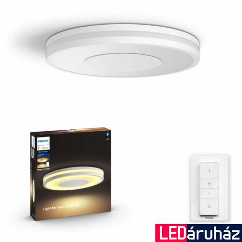 Philips Hue Being mennyezeti LED lámpa, White Ambiance, fehér, 27W, 2400 lm, 2200K-6500K + DimSwitch, Bluetooth+Zigbee, 3261031P6