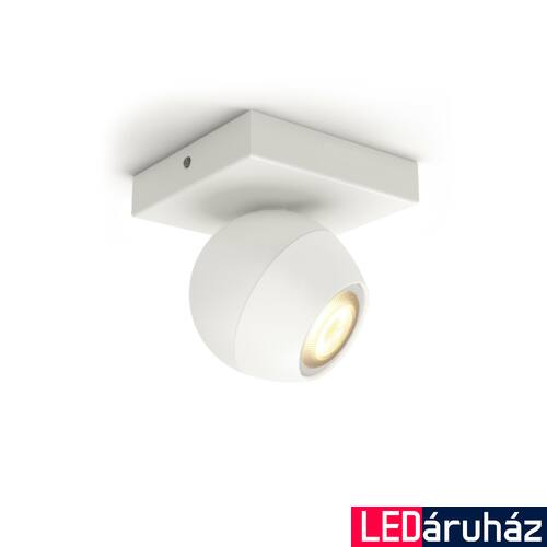 Philips Hue Buckram LED mennyezeti spotlámpa, fehér, White Ambiance, 2200K-6500K GU10, Bluetooth+Zigbee, 5047131P9