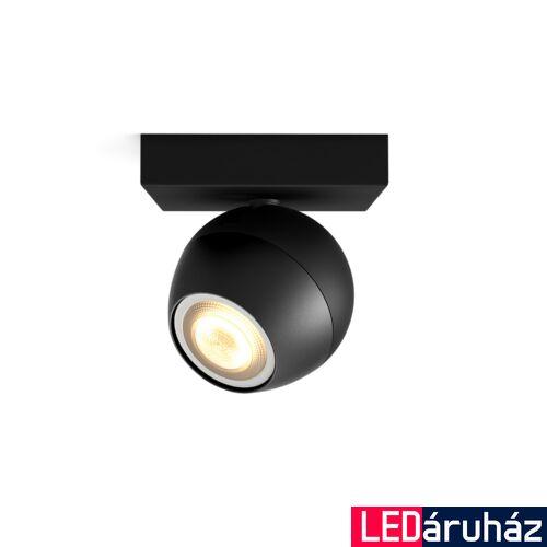 Philips Hue Buckram LED mennyezeti spotlámpa, fekete, White Ambiance, 2200K-6500K GU10, Bluetooth+Zigbee, 5047130P9