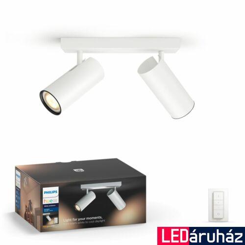 Philips Hue Buratto LED spotlámpa, fehér, változtatható színhőmérséklet 2200-6500K, 2x5.5W, 500 lm, 50462/31/P7