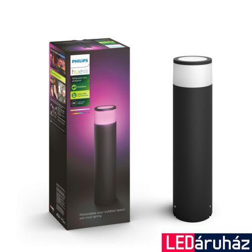 Philips Hue Calla kültéri leszúrható LED lámpa, IP65, RGBW, 2000-6500K 600lm, 8W, fekete, White and Color Ambiance, 1743730P7