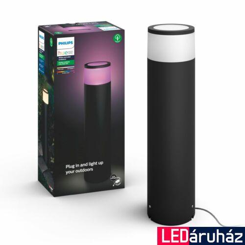 Philips Hue Calla kültéri leszúrható LED lámpa tápegységgel, IP65, RGBW, 2000-6500K 600lm, 8W, fekete, White and Color Ambiance, 1745130P7