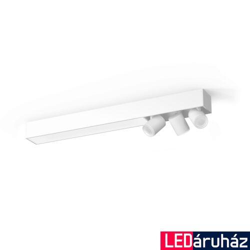 Philips Hue Centris mennyezeti lámpa 3db. irányítható LED spotfejjel, White and Color Ambiance, RGBW, 53,1W beépített LED+3xGU10, 3650 lm, fehér, Bluetooth+Zigbee, 5060931P7