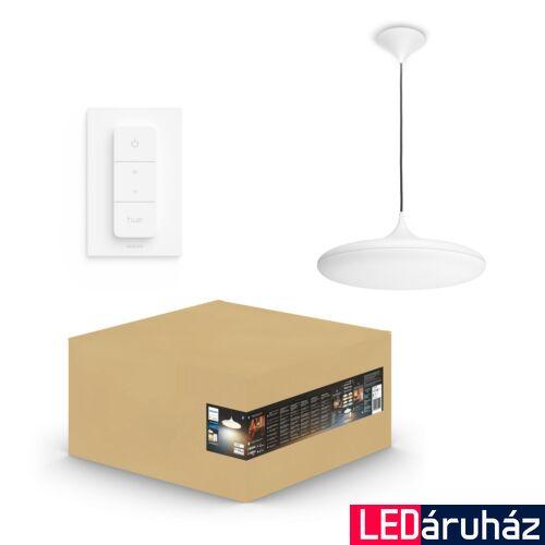 Philips Hue Cher függesztett LED lámpa, White Ambiance, fehér, 33,5W, 3000 lm, 2200K-6500K + DimSwitch, Bluetooth+Zigbee, 4076131P6