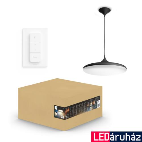 Philips Hue Cher függesztett LED lámpa, White Ambiance, fekete, 33,5W, 3000 lm, 2200K-6500K + DimSwitch, Bluetooth+Zigbee, 4076130P6