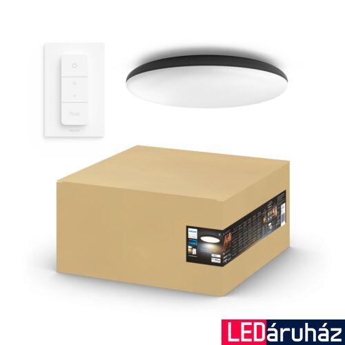 Philips Hue Cher mennyezeti LED lámpa, White Ambiance, fekete, 33,5W, 3000 lm, 2200K-6500K + DimSwitch, Bluetooth+Zigbee, 4096730P6