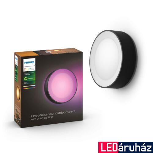 Philips Hue Daylo kültéri fali/mennyezeti lámpa, White and Color Ambiance, RGBW, 15W, 1050lm, IP44, fekete, 8718696174401