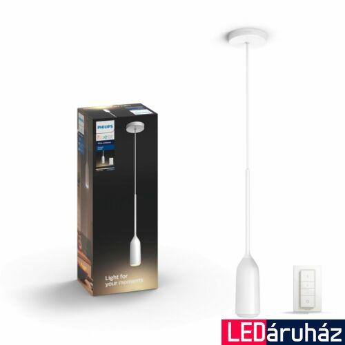 Philips Hue Devote LED függeszték, fehér, 9.5W, 230V, IP20, 2200-6500K, +DimSwitch, 4300731P7