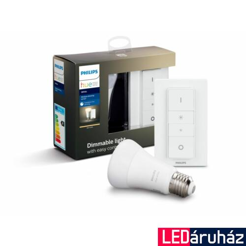 Philips Hue E27 White recipe kit, DimSwitch, E27, Bluetooth+Zigbee, 8718696785331
