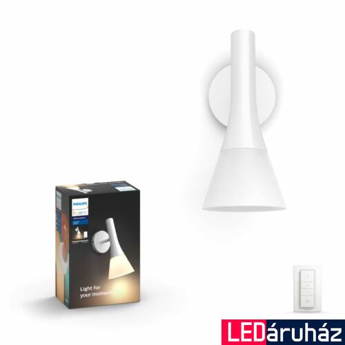 Philips Hue Explore LED fali lámpa, fehér, 6W, 230V, IP20, 2200-6500K, +DimSwitch, 4300231P7
