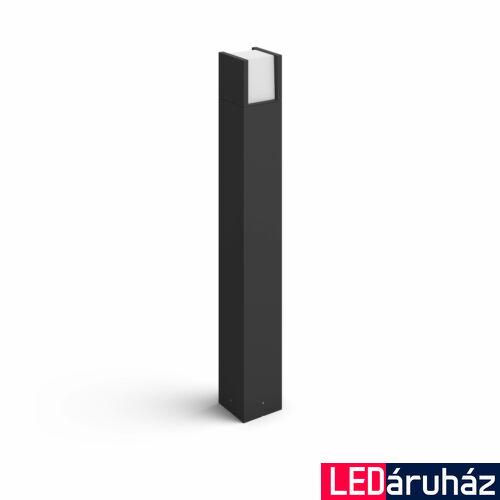 Philips Hue Fuzo kültéri LED állólámpa, IP44, 2700K melegfehér, 1150lm, 15W, fekete, 1744830P7