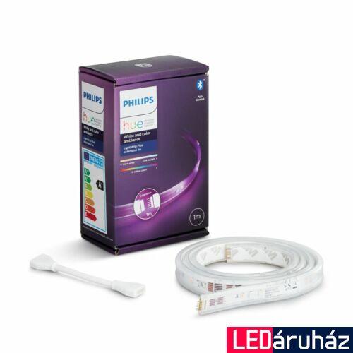 Philips Hue LightStrip Plus kiegészítő LED szalag, RGB+W+WW, 1m, adapter nélkül, Bluetooth+Zigbee, 871869970344800