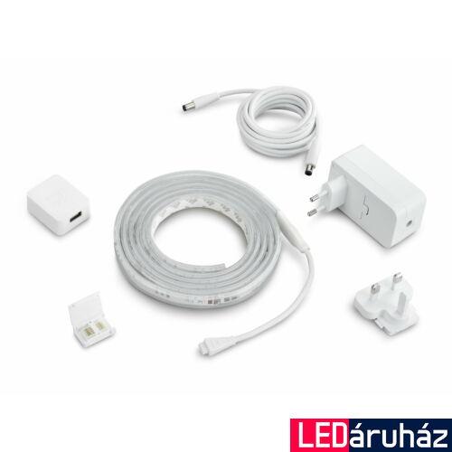 Philips Hue LightStrip Plus LED szalag, RGB+W+WW, 2m, csatlakozóval, EU adapterrel, Bluetooth+Zigbee, 871869970342400