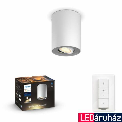 Philips Hue Pillar fehér mennyezeti LED GU10 spot, White Ambiance, 2200K-6500K + DimSwitch, Bluetooth+Zigbee, 5633031P6