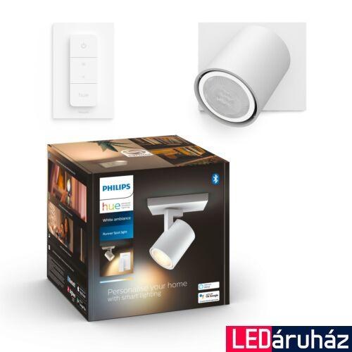 Philips Hue Runner fali fehér LED spot, White Ambiance, 2200K-6500K GU10+DimSwitch, Bluetooth+Zigbee, 5309031P6