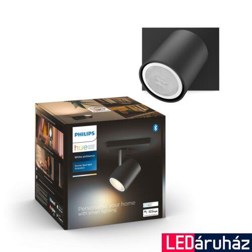 Philips Hue Runner fali fekete LED spot, White Ambiance, 2200K-6500K GU10, Bluetooth+Zigbee, 5309030P9