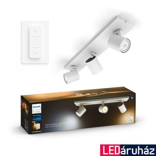 Philips Hue Runner hármas mennyezeti fehér LED spot, White Ambiance, 2200K-6500K 3xGU10+DimSwitch, Bluetooth+Zigbee, 5309331P6