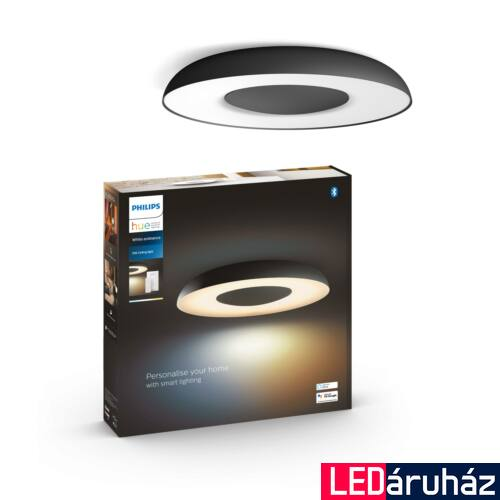 Philips Hue Still LED mennyezeti lámpa, White and Color Ambiance, fekete, 27W, 2400 lm, 2200K-6500K + DimSwitch, Bluetooth+Zigbee, 3261330P6