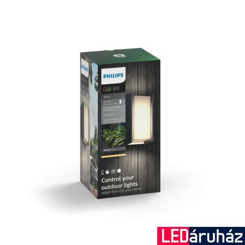 Philips Hue Turaco LED falilámpa, antracit, 9.5W, 230V, IP44, 2700K melegfehér fényforrással, 1647293P0