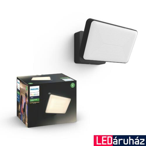 Philips Hue Welcome LED reflektor, IP44, 2700K, 15W, 2300lm, fekete, 1743630P7