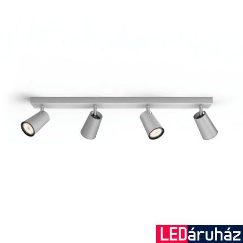 Philips Paisley alumínium mennyezeti szpotlámpa, GU10 foglalattal, max. 4x10W, 5057448PN