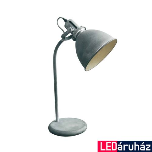 Viokef ALFRED asztali lámpa szürke, E27, VIO-4150200
