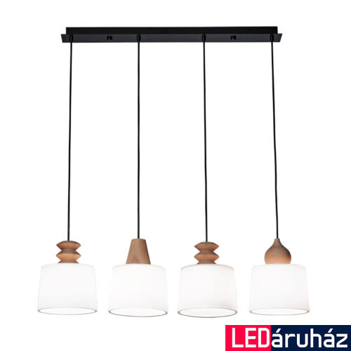 Viokef EDUARDO többágú függeszték 4 foglalattal, fekete, E27, VIO-3087300