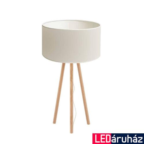 Viokef ROCKET asztali lámpa fehér,fa, E27, VIO-4120200
